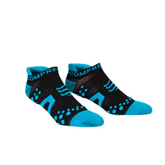 Compressport Pro Racing Low 3:D Dot Fullsocks - PRS Proracing socks - RUN LOW blå/svart T1