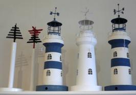 Fyrar för värmeljus samt hållare för hushållspapper i form av sjömärken