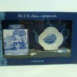 3-dels te set - Blue Italian
