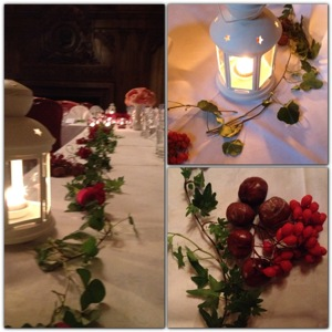 Chestnuts and rowan-berries became great decoration attributes together with wedding favors from Eucador.