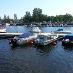 Båthamn nära Gävle Strand vid Gavleån.