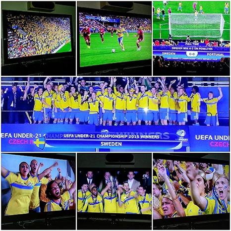Sverige, U21 vann mot Portugal. Matchen spelades sista juni 2015 men den avgjordes inte förrän på natten mellan tisdag och onsdag.  Klicka på bilden så får du veta mer om den spännande matchen.