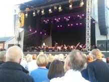 Flera har kommit till Gävle för att se artisterna i Gävle.