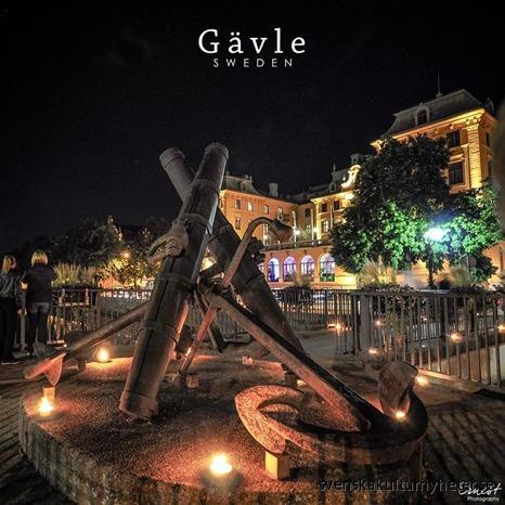 Bild nr. 15 Ernest @ernestnirmalk har tagit en bild från Å-draget som är varje höst i Gävle. På bilden ser du Gavleån och i bakgrunden kan du se Elite Grand Hotel Gävle.