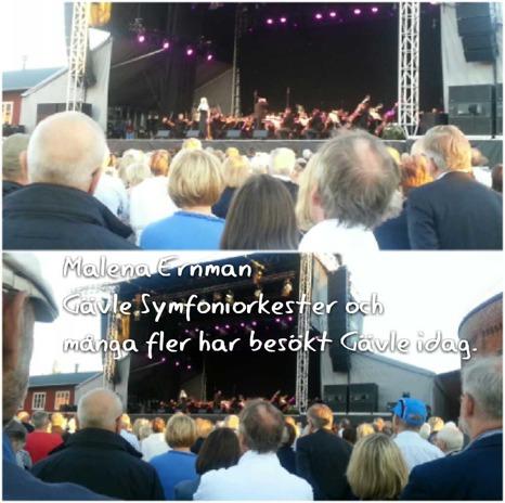Klicka på bilden så får du se fler bilder och filmer från konserten :)