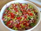 Nu har jag lagt på purjolöken och tomaterna.