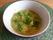 Gröna soppan är nu klar att äta! :) Knäckebröd med smör och ost passar bra till soppan.