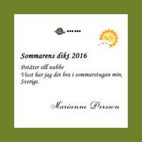 Sommarens dikt korades 29/8 på vår Facebook, Twitter och Instagram.
