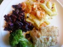 Koka broccoli till. Sedan är det bara att äta! :)