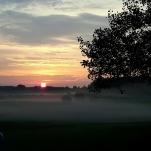 Bild från 25/8 började med en vacker morgon. Sen blev det en varm och skön dag. Ca. +27 ° Fotad utanför Lillkyrka, Örebro.