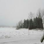 Idag den 11/12 har det varit snöväder hela dagen.❄ Bilden är fotad utanför Lillkyrka, Örebro.
