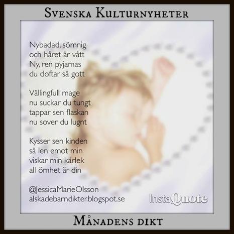 @jessicasdikter Jessica Olsson har skrivit en dikt om nattning av barn, föräldrarskap och gränslös kärlek. Grattis Jessica! :)