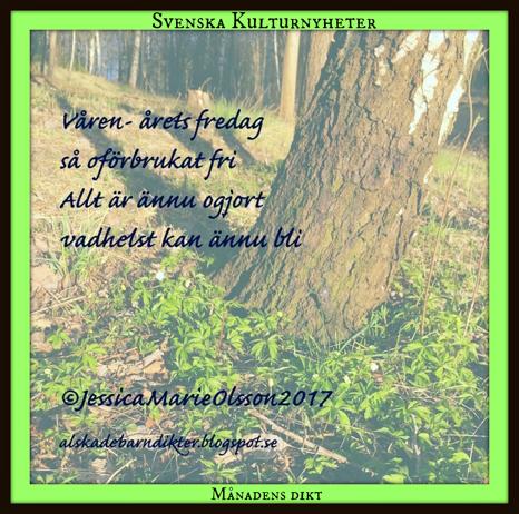 Grattis säger vi till Jessica Olsson @jessicasdikter som har skrivit dikten om våren! :)