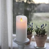 LED Vaxblockljus, rörlig låga (mellan)