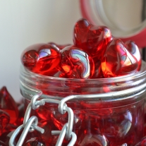 Badkula Hjärta Strawberry
