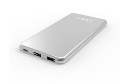 DOCA D607 Powerbank 10000mAh i iPhone-design - Silver