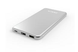 DOCA D607 Powerbank 10000mAh i iPhone-design - Silver