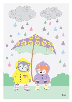 Paraplyet - Lila REA 50 %
