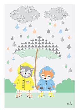 Paraplyet - Blå REA 50 %