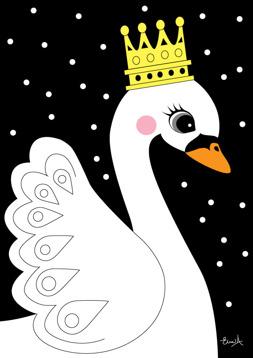 The swan - Svart
