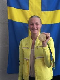 Sarah Sjöström med OS-guldet