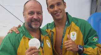Graham Hill og Chad Le Clos.