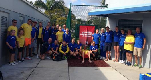 Simlandslaget på läger med OLKA i Florida
