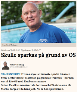 Skånska Dagbladets webb om Bebben-affären.