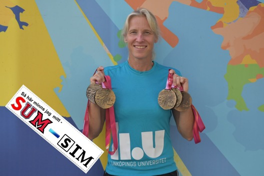 Annette Philipsson, gjorde en styck SUM-SIM riksfinal, deltog på två Olympiska Spel och år 2015 - tog hon fem medaljer på Masters-VM i Kazan - som 50-åring. Ett bra bevis på att det kommer mer än Sum-