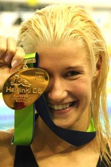 EM guld 2006 på hemmaplan för Hanna-Maria Seppälä - foto Bo Hultén