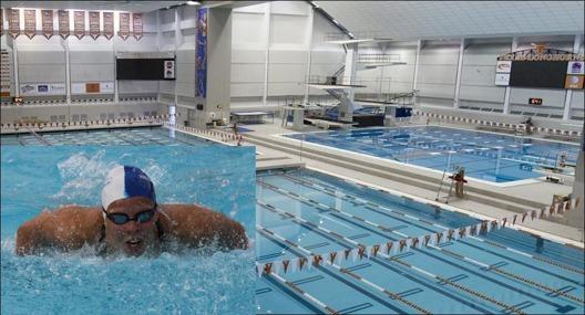 Lousie Hansson USC/Helsingborg simmar på årets upplaga av Texas Invitational på Jamail Texas Swimming Center. (foto. Texas Longhorns)