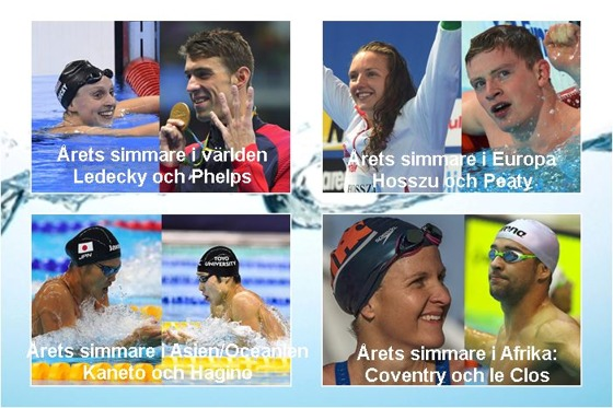 Årets simmare runt om i världen - foto Swimming World