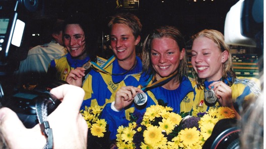 Frv. Malin Nilsson, JOhanna Sjöberg, Louise Jöhncke och Josefin Lillhage - foto:  Jan Erik Leonthin
