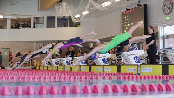Bild från Borås Speedo Meet. Klicka på bilden så blir den stor. I notisen ovan hittar du länk till fler bilder från tävlingarna!