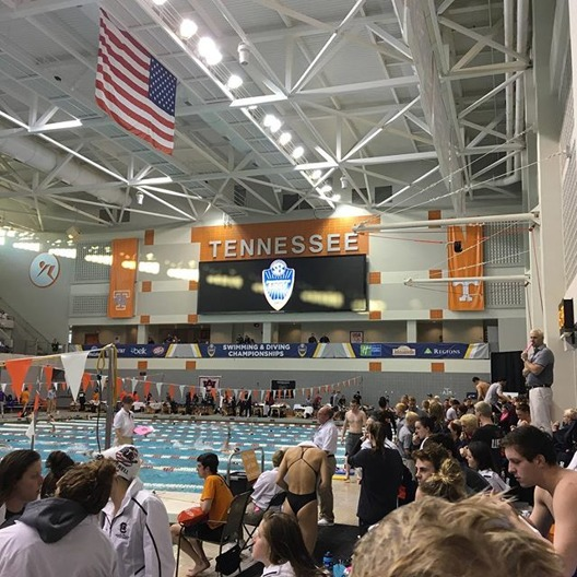 SEC Mästerskapen simmas i Allan-Jones Intercollegiate Aquatic Center - Knoxville, Tenn.