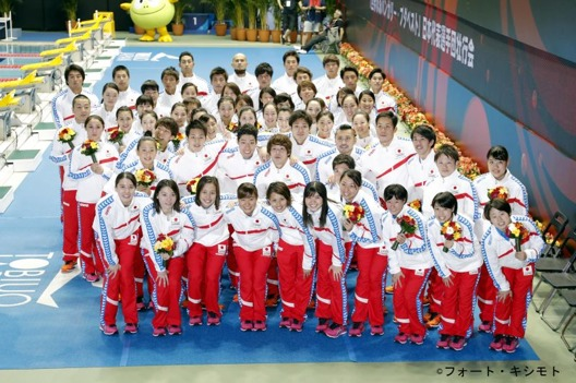 Den japanska VM-truppen till Budapest 2017 - Foto: Japanska Simförbundet