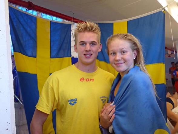 Kvällens finalsimmare - Erik och Hannah