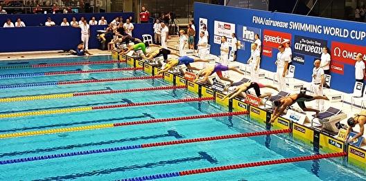 Från förmiddagens försök på 200m fritt - Sarah Sjöström i starten - Foto: Ricki Clausen fra SwimApp