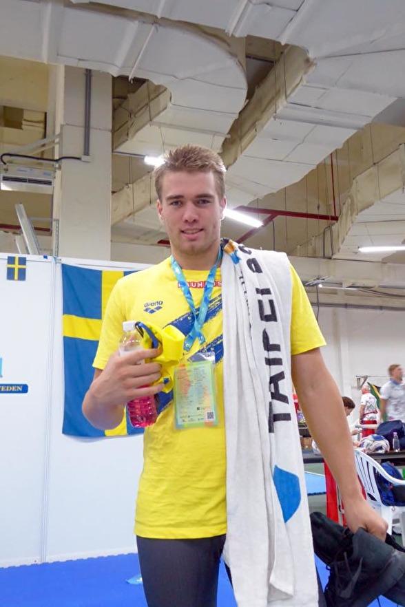 Johannes Skagius gick till final som tvåa på 50m bröstsim ikväll!