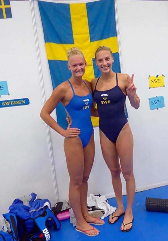 Vilma Ekström och Jessica Eriksson vidare till semin på 50m bröstsim.