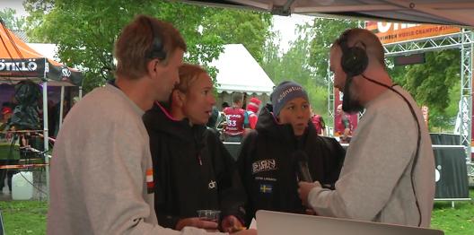 Annika Eriksson och Christine LArsson upprepade sin seger i VM i Swim-Run idag. Foto: Ö till Ö websändning