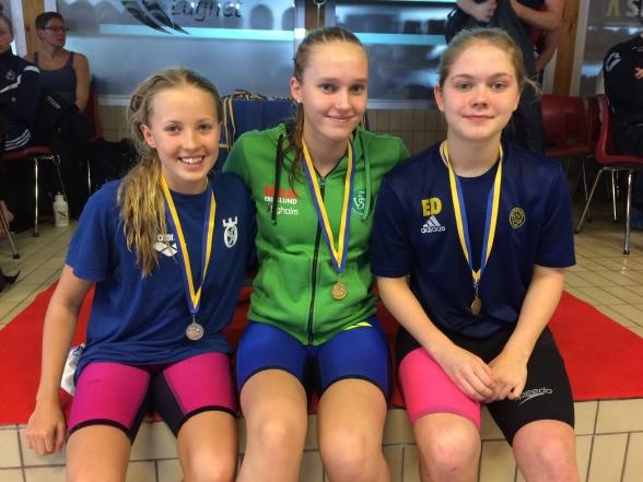 Falun: Prispallen på flickor 14år 200 rygg