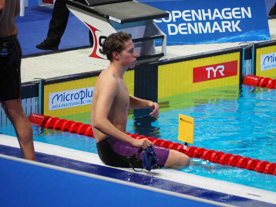 Henrik Christiansen etter bronseløpet. Foto: Bo Hulten