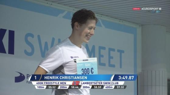 Henrik Christiansen. Skjermdump: Eurosport