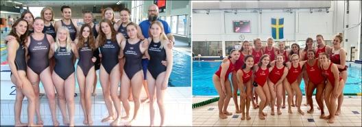 Damfinallagen i SM-finalerna 2019 - Järfälla och LUGI. Foto:  Britta Hassler resp. Karim al Kallyas  (klicka på bilden så blir den stor)