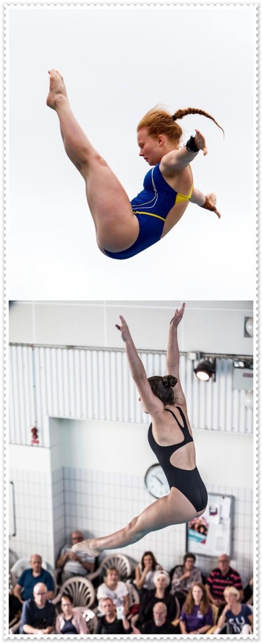 Bilden: Ellen Ek och Emilia Nilsson Garip, Malmö Kappsimningsklubb är två av hopparna till VM i år. Foto:  Chris Rye