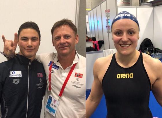 Tomoe og Susann sikrer to av Norges tre bronsemedaljer i kveld! Foto: Finn Zachariassen