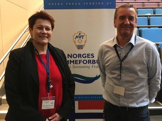 Visepresident Inger Grødem Haraldsen og president Cato Bratbakk. FOTO: NSF.