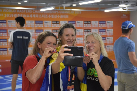 Tre av dagens medaljörerpå VM i Korea