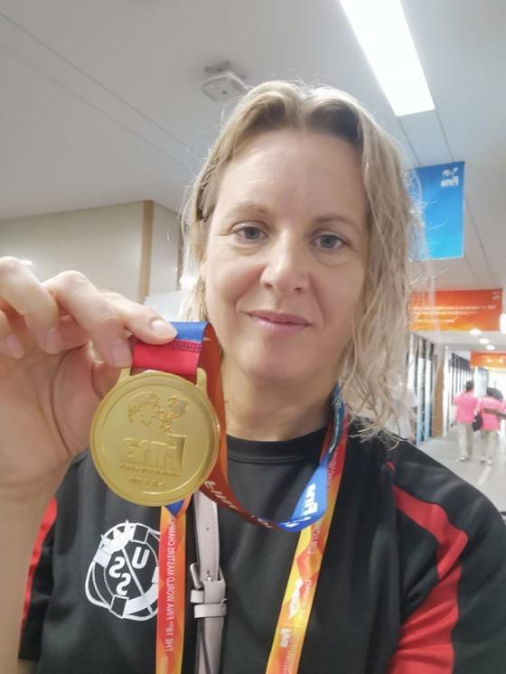 Första segern på Masters-VM kom idag genom Camilla Johansson Sponseller. Läs mer på SimMästerskapsSidan nedan.